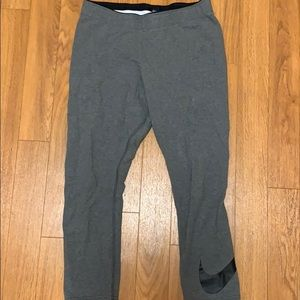 Nike cropped gray leggings size medium